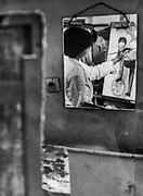 Lekcja malarstwa, ASP w Krakowie, początek lat 80. XX wieku