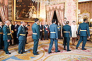060615 Spanish Royals attend a reception for the Armed Forces day
