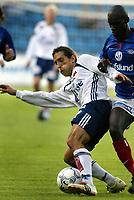 Fotball. Eliteserien 18. august 2002. Vålerenga - Viking, Ullevål stadion. Peter Kopteff, Viking.<br /> <br /> Foto: Andreas Fadum, Digitalsport.