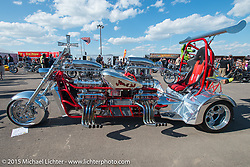 The Rat's Hole bike show at the Buffalo Chip Campground during the 75th Annual Sturgis Black Hills Motorcycle Rally.  SD, USA.  August 6, 2015.  Photography ©2015 Michael Lichter.