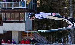05.02.2011, Heini Klopfer Skiflugschanze, Oberstdorf, GER, FIS World Cup, Ski Jumping, Probedurchgang, im Bild Andrea Morassi (ITA) , during ski jump at the ski jumping world cup Trail round in Oberstdorf, Germany on 05/02/2011, EXPA Pictures © 2011, PhotoCredit: EXPA/ P. Rinderer