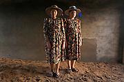 Rempel sisters portrait at their house in Santa Rita.