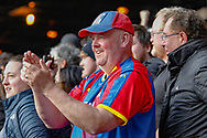 Crystal Palace football fans, football supporters during the Premier League match between Crystal Palace and Manchester City at Selhurst Park, London, England on 14 April 2019.
