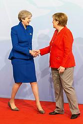July 7, 2017 - Hamburg, Hamburg, Deutschland - Theresa May und Angela Merkel bei der Begrüßung der Teilnehmer des 12. G20 Gipfel 2017. Hamburg, 07.07.2017 (Credit Image: © Future-Image via ZUMA Press)