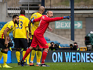 Goalkeeper Heurelho Gomes of Watford during the FA Cup match at The Den, London<br /> Picture by Liam McAvoy/Focus Images Ltd 07413 543156<br /> 29/01/2017