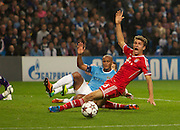 02.10.2013 Manchester, England.  Bayern Munich's Thomas Muller misses a great cvhance to make it 3-0  during the Group D UEFA Champions League game between, Manchester City and Bayern Munich from the Etihad Stadium.