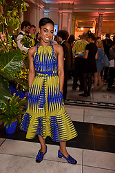 """Pippa Bennett-Warner at the opening of """"Frida Kahlo: Making Her Self Up"""" Exhibition at the V&A Museum, London England. 13 June 2018."""