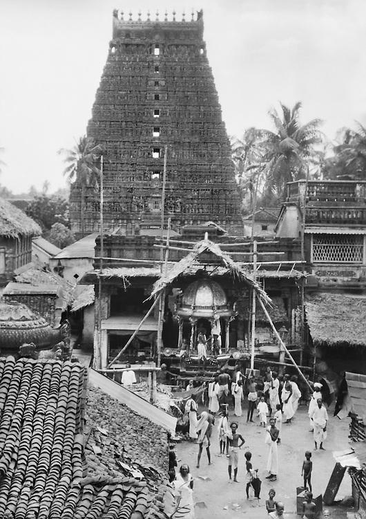 Preparing a God's Chariot, Kumbakonam, India, indian Subcontinent; 1929