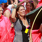 NLD/Amsterdam/20110806 - Canalpride Gaypride 2011, vrouwenvoetbal boot