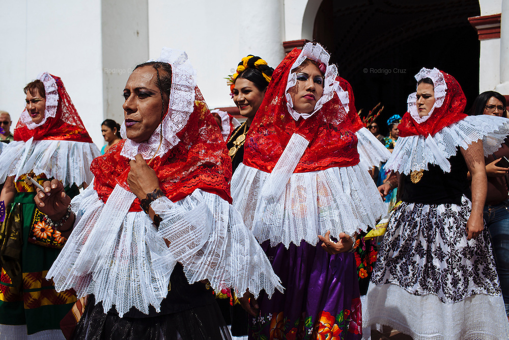 """In Juchitán in the southern state of Oaxaca, Mexico, the world is not divided simply into gay and straight, the locals make room for a third category, whom they call """"muxes"""".<br /> <br /> Muxes are men who consider themselves women and live in a socially sanctioned netherworld between the two genders. """"Muxe"""" is a Zapotec word derived from the Spanish """"mujer"""" or woman; it is reserved for males who, from boyhood, have felt themselves drawn to living as a woman, anticipating roles set out for them by the community.<br /> <br /> They are considered hard workers that will forever stay by their mothers side, taking care for their families operating as mothers without children of their own.<br /> <br /> Not all muxes express they identities the same way. Some dress as women and take hormones to change their bodies. Others favor male clothes. What they share is that the community accepts them."""