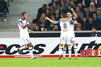 joie Gael Danic (Bastia) et equipe