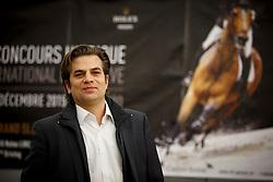 Oliver Lueck representing his father Dr Rolf Lueck, breeder of Horsewear Hale Bob   (Oldbg), Helikon xx - Goldige x Noble Champion.<br /> Prize giving WBFSH<br /> Genève 2015<br /> © Hippo Foto - Dirk Caremans<br /> 12/12/15