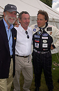 Lord Cowdray, Nick Mason and Lord March, Cartier Style Et Luxe, Goodwood, 27 June 2004. SUPPLIED FOR ONE-TIME USE ONLY-DO NOT ARCHIVE. © Copyright Photograph by Dafydd Jones 66 Stockwell Park Rd. London SW9 0DA Tel 020 7733 0108 www.dafjones.com