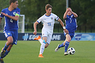 Lorenzo Colombo of of Italy (19) runs at the Israel defence during the UEFA European Under 17 Championship 2018 match between Israel and Italy at St George's Park National Football Centre, Burton-Upon-Trent, United Kingdom on 10 May 2018. Picture by Mick Haynes.