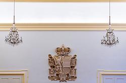 THEMNBILD - das Wappen des Bundeslandes Salzburg im Salzburger Landtag aufgenommen am 05. Oktober 2016, Chiemseehof, Salzburg, Österreich // The coat of arms of the province of Salzburg in the regional parliament at the Chiemseehof, Salzburg, Austria on 2016/10/05. EXPA Pictures © 2016, PhotoCredit: EXPA/ JFK