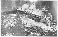 RGS 2-8-0 #10 was a pusher on a freight when Gallagher Trestle 57-A collapsed.<br /> RGS  MP 57, CO  10/1906<br /> See RD155-039 & RD155-043 for related photos.