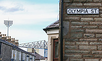 A view of Turf Moor, from Olympia Street, as Burnley prepare to host Olympiakos in the Europa League Qualifying Second Leg<br /> <br /> Photographer Alex Dodd/CameraSport<br /> <br /> UEFA Europa League - UEFA Europa League Qualifying Second Leg 2 - Burnley v Olympiakos - Thursday August 30th 2018 - Turf Moor - Burnley<br />  <br /> World Copyright © 2018 CameraSport. All rights reserved. 43 Linden Ave. Countesthorpe. Leicester. England. LE8 5PG - Tel: +44 (0) 116 277 4147 - admin@camerasport.com - www.camerasport.com