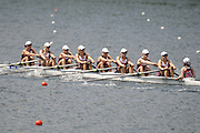 Lucerne, SWITZERLAND.  CAN W8+ at the start, moving away from the start pontoon, in their heat of the  Women's Eights.  2012 FISA World Cup II, Lucerne Regatta.  Rotsee  Rowing Course,  Friday  25/05/2012    [Mandatory Credit Peter Spurrier/ Intersport Images]