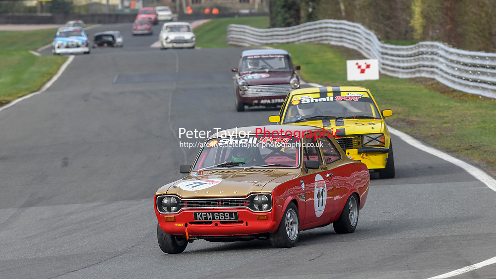 #11 Philip HOUSE Ford Escort RS2000 MK1 2000  during Paul Inch Classic and Historic Touring Cars and Shell Group 1 Touring Cars, Pre 66 and Pre 83 Touring Car Championship  as part of the BARC NW National Championship Race Meeting at Oulton Park, Little Budworth, Cheshire, United Kingdom. March 23 2019. World Copyright Peter Taylor/PSP. Copy of publication required for printed pictures.