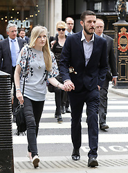 Charlie Gard's parents Connie Yates and Chris Gard arrive at the Royal Courts of Justice in London where the hearing will resume into the case of their terminally-ill baby.