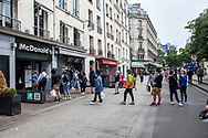 France is the biggest McDonald consumer in<br /> Europe. People are waiting in line their first burger after 50 days.