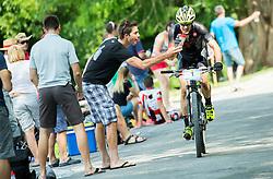Bostjan Hribovsek during Cross Country XC Mountain bike race for Slovenian National Championship in Kamnik, on July 12, 2015 in Kamnik,  Slovenia. Photo by Vid Ponikvar / Sportida