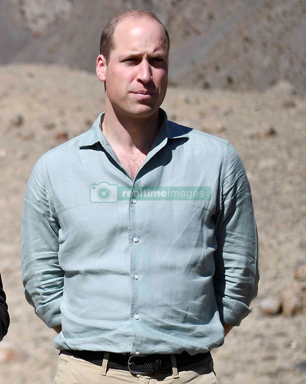The Duke and Duchess of Cambridge visit the Chiatibo glacier in the Hindu Kush mountain range in the Chitral District of Khyber-Pakhunkwa Province in Pakistan on the third day of the royal visit.