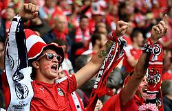 Austria fans before the match  - Mandatory by-line: Joe Meredith/JMP - 18/06/2016 - FOOTBALL - Parc des Princes - Paris, France - Portugal v Austria - UEFA European Championship Group F