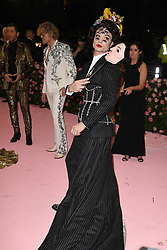 Ezra Miller attending the Costume Institute Benefit at The Metropolitan Museum of Art celebrating the opening of Heavenly Bodies: Fashion and the Catholic Imagination. The Metropolitan Museum of Art, New York City, New York, May 6, 2019. Photo by ABACAPRESS.COM