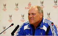 Photo: Richard Lane Photography. Emirates Cup Press Conference. 01/08/2008. Hamburg manager, Martin Jol.