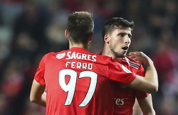 February 7, 2019 - Na - Lisbon, 06/02/2019 - SL Benfica received this evening the Sporting CP in the Stadium of Light, in game the account for the first leg of the Portuguese Cup 2018/19 semi final. Iron and Ruben Dias  (Credit Image: © Atlantico Press via ZUMA Wire)