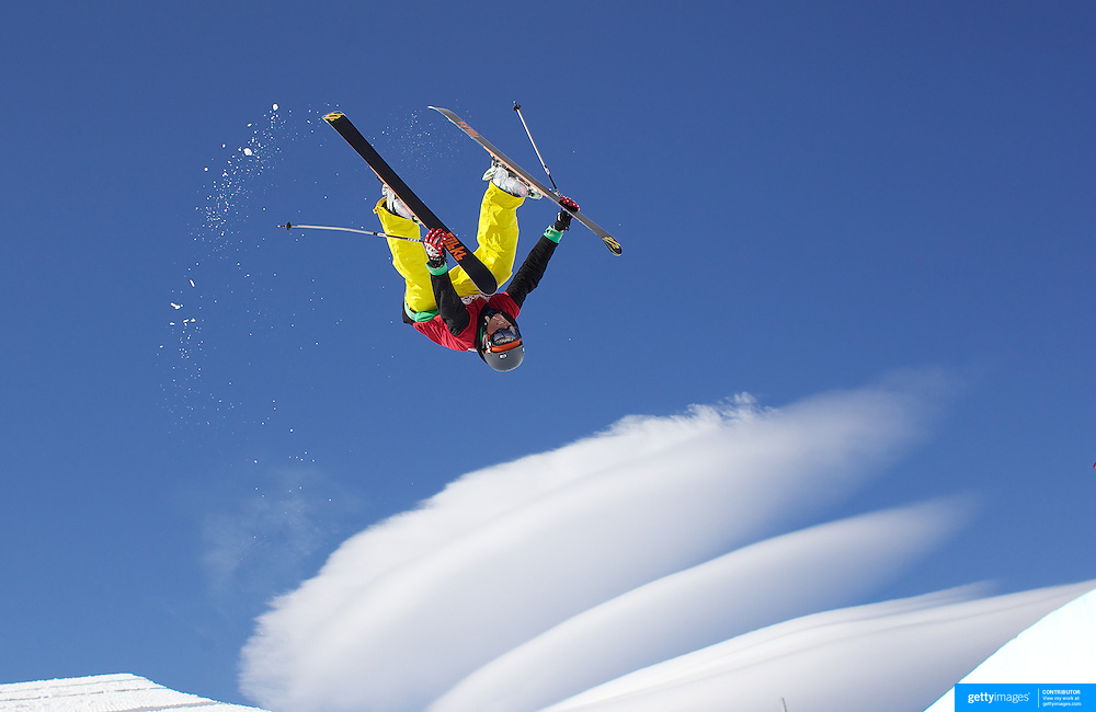 Kalle Hilden, Finland, in action in the Men's Halfpipe Finals during The North Face Freeski Open at Snow Park, Wanaka, New Zealand, 3rd September 2011. Photo Tim Clayton.