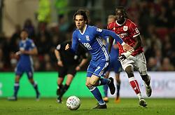 Bristol City's Famara Diedhiou and Birmingham City's Jota