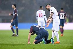 April 29, 2018 - Paris, France - 12 THOMAS MEUNIER (PSG) - DECEPTION - 03 PEDRO REBOCHO (GUI) - FAIR PLAY (Credit Image: © Panoramic via ZUMA Press)