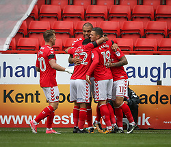 Charlton Athletic's Josh Magennis celebrates after scoring their first goal