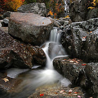 Scenic landscape photos of this stunningly beautiful New England fall foliage and waterfall long exposure photography scenery at Silver Cascade from the Crawford Notch State Park in the White Mountains region of New Hampshire are available as museum quality photography prints, canvas prints, acrylic prints or metal prints. Prints may be framed and matted to the individual liking and decorating needs at:<br />