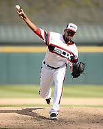 CHICAGO - MAY 05:  Juan Minaya #37 of the Chicago White Sox pitches against the Boston Red Sox on May 5, 2019 at Guaranteed Rate Field in Chicago, Illinois.  (Photo by Ron Vesely)  Subject:  Juan Minaya