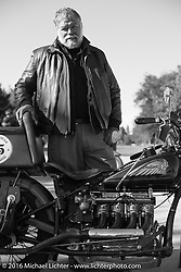 Dave Holzerland with his 1935 Indian Four during Stage 8 of the Motorcycle Cannonball Cross-Country Endurance Run, which on this day ran from Junction City, KS to Burlington, CO., USA. Saturday, September 13, 2014.  Photography ©2014 Michael Lichter.