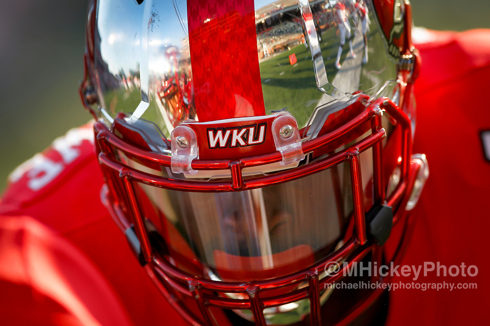 BOWLING GREEN, IN - SEPTEMBER 16: Joel Iyiegbuniwe #4 of the Western Kentucky Hilltoppers is seen before the game against the Louisiana Tech Bulldogs at Houchens-Smith Stadium on September 16, 2017 in Bowling Green, Kentucky. (Photo by Michael Hickey/Getty Images) *** Local Caption *** Joel Iyiegbuniwe