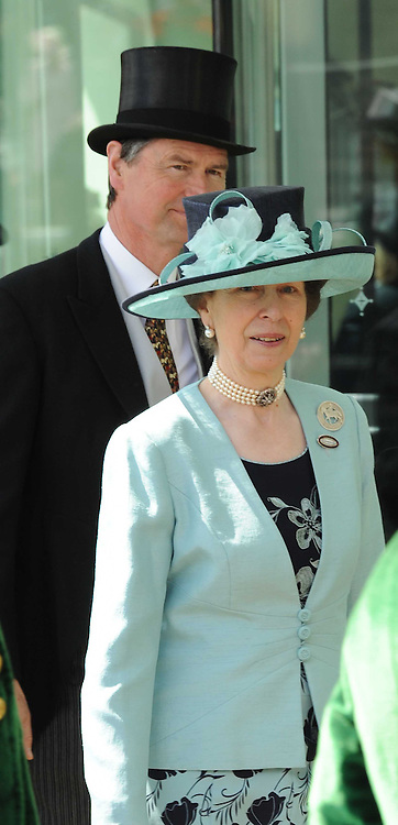 HRH The PRINCESS ROYAL and TIM LAWRENCE  at the first day of the 2010 Royal Ascot Racing festival at Ascot Racecourse, Berkshire on 15th June 2010.
