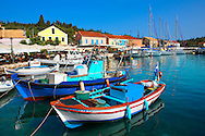 Fiskardo [ ???????? ] , Kefalonia; Greek Ionian Islands .<br /> <br /> Visit our GREEK HISTORIC PLACES PHOTO COLLECTIONS for more photos to download or buy as wall art prints https://funkystock.photoshelter.com/gallery-collection/Pictures-Images-of-Greece-Photos-of-Greek-Historic-Landmark-Sites/C0000w6e8OkknEb8