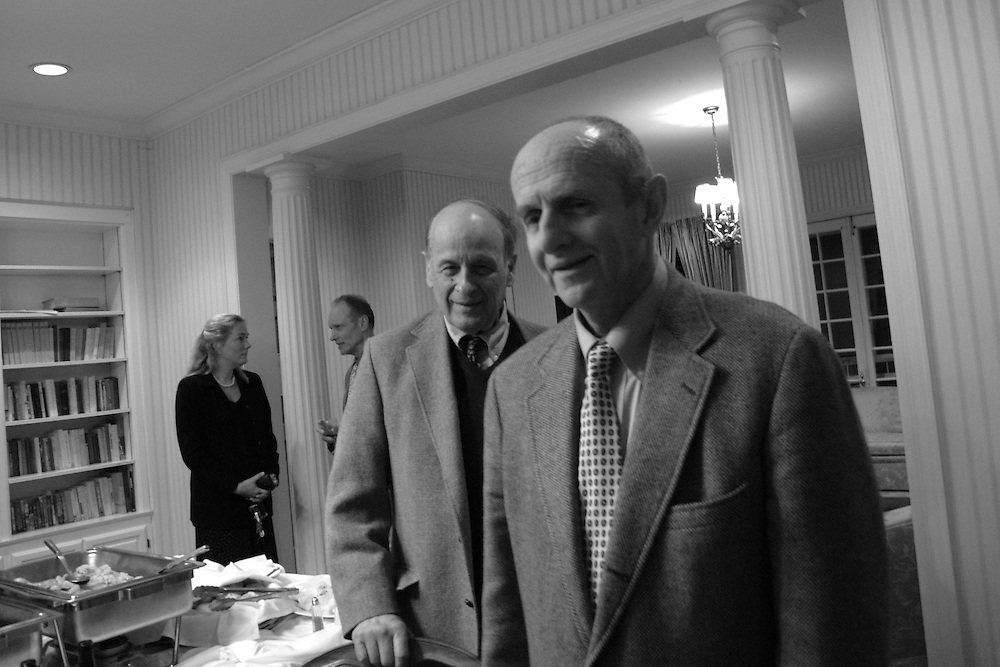 [center] George Core, editor of the Sewanee Review, and Dale Richardson, professor of English.