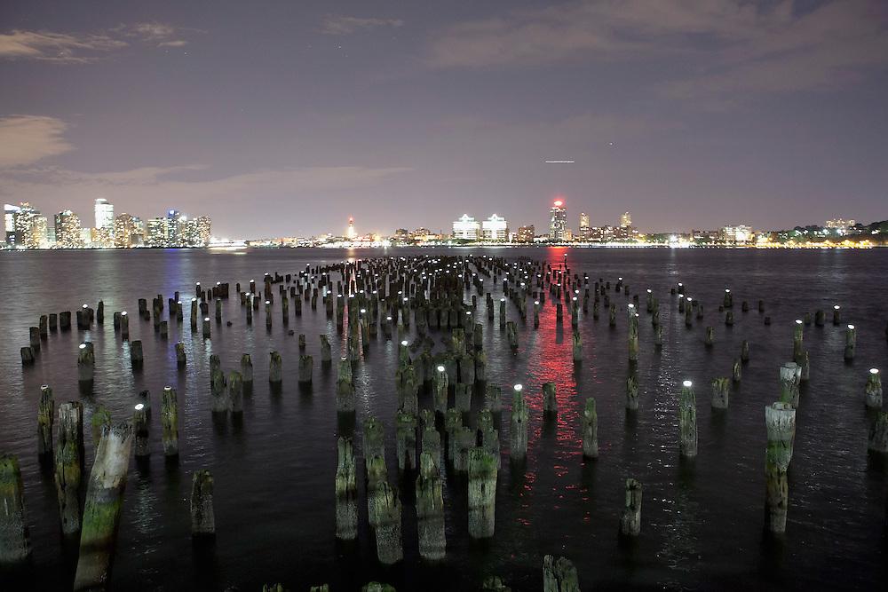 NY, New York: Reflecting the Stars programing night, project by Jon Morris, the Windmill Factory