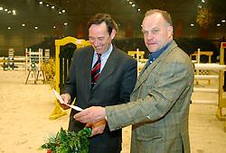 Schep Egbert en Jan Greve<br />KWPN hengstenkeuring 2003<br />Photo © Dirk Caremans