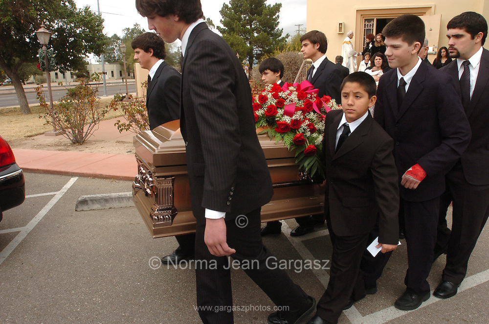 """The funeral of Salvatore """"Bill"""" Bonanno, the former acting head of one of New York's Mafia families and son of Prohibition era crime boss Joseph Bonanno, was held at Ss. Peter and Paul Catholic Church in Tucson, Arizona on January 7, 2008.  He died at the age of 75."""