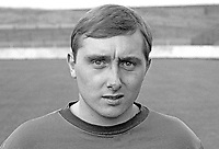 Jackie Hutton, footballer, Glentoran FC, August, 1967, 196708000060<br /> <br /> Copyright Image from Victor Patterson, 54 Dorchester Park, Belfast, UK, BT9 6RJ<br /> <br /> t: +44 28 9066 1296<br /> m: +44 7802 353836<br /> vm +44 20 8816 7153<br /> <br /> e1: victorpatterson@me.com<br /> e2: victorpatterson@gmail.com<br /> <br /> www.victorpatterson.com<br /> <br /> IMPORTANT: Please see my Terms and Conditions of Use at www.victorpatterson.com