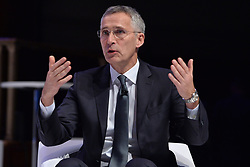 © Licensed to London News Pictures. 03/12/2019. London, UK. Jens Stoltenberg, Secretary General, North Atlantic Treaty Organisation  makes a keynote speech at the NATO Engages Event. This year, NATO marks its 70th Anniversary. Photo credit: Ray Tang/LNP