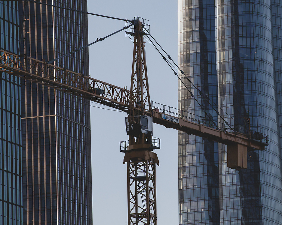 A Liebherr Tower Crane situated in Hudson Yards.