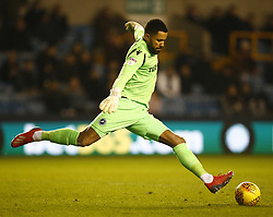 February 12, 2019 - London, England, United Kingdom - Jordan Archer of Millwall.during Sky Bet Championship match between Millwall and Sheffield Wednesday at The Den Ground, London on 12 Feb 2019. (Credit Image: © Action Foto Sport/NurPhoto via ZUMA Press)