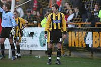Photo: Pete Lorence.<br />Boston United v Swindon Town. Coca Cola League 2. 20/01/2007.<br />Shane Nicholson, on loan from Chesterfield, watches over the penalty area.